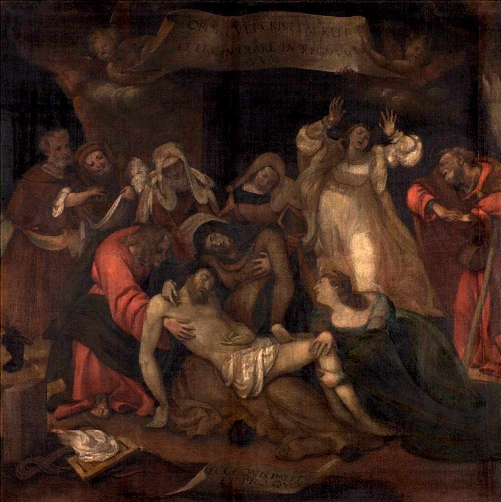 Lotto, Compianto sul Cristo morto, basilica di Sant'Alessandro in Colonna, Bergamo